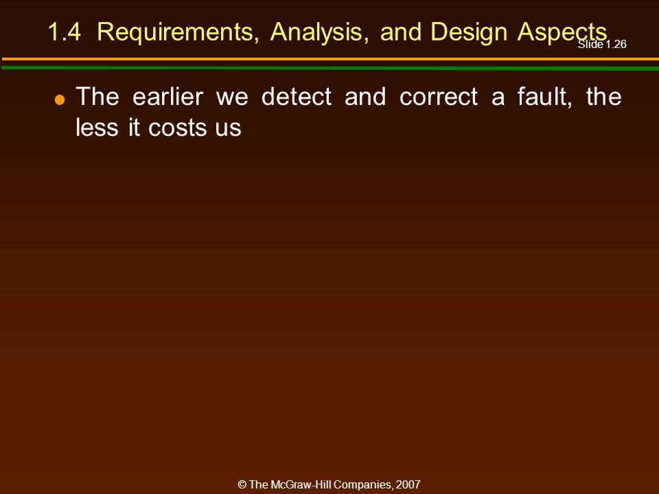 1.4 Requirements, Analysis, and Design Aspects