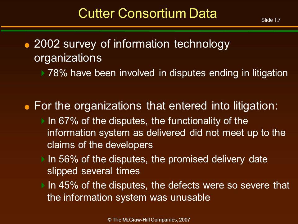 Cutter Consortium Data