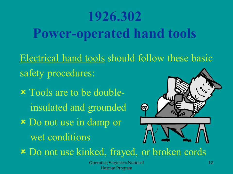 1926.302 Power-operated hand tools