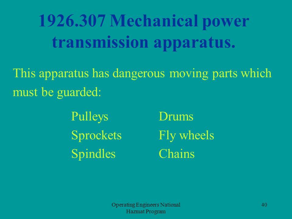1926.307 Mechanical power transmission apparatus.