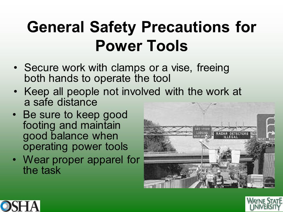 General Safety Precautions for Power Tools