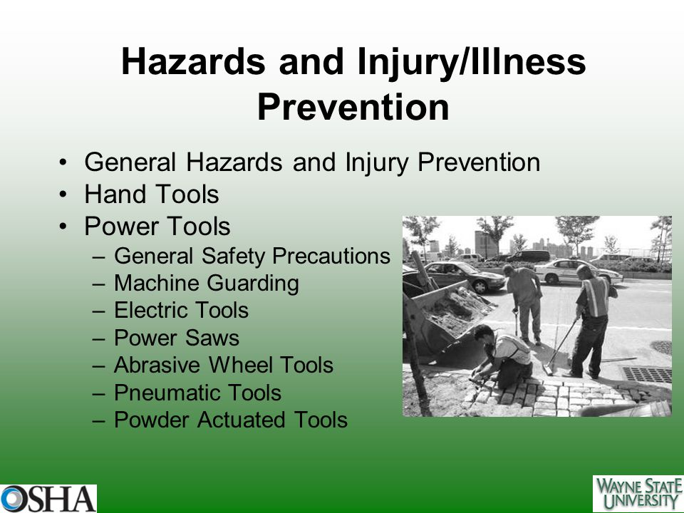 Hazards and Injury/Illness Prevention
