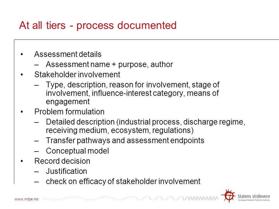 At all tiers - process documented
