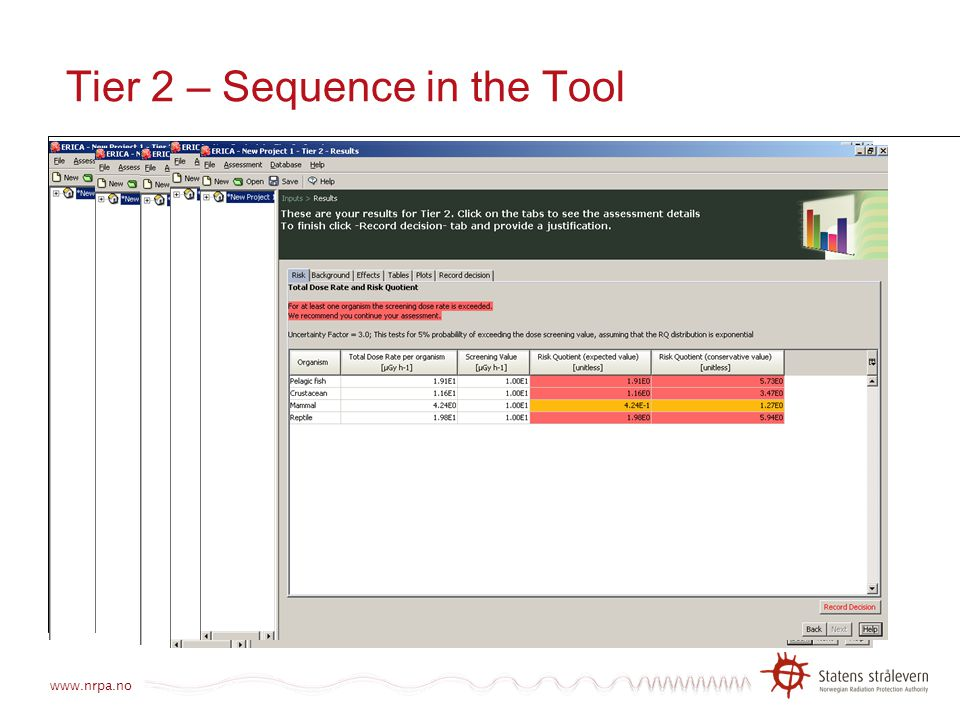 Tier 2 – Sequence in the Tool