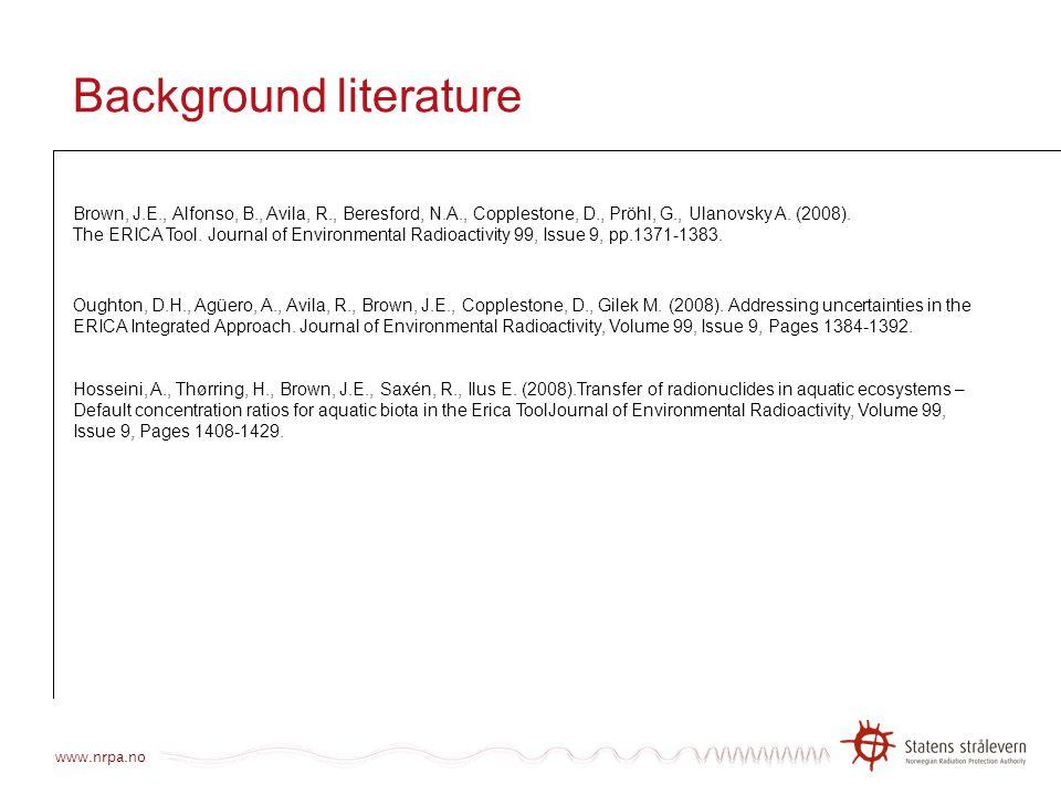 Background literature
