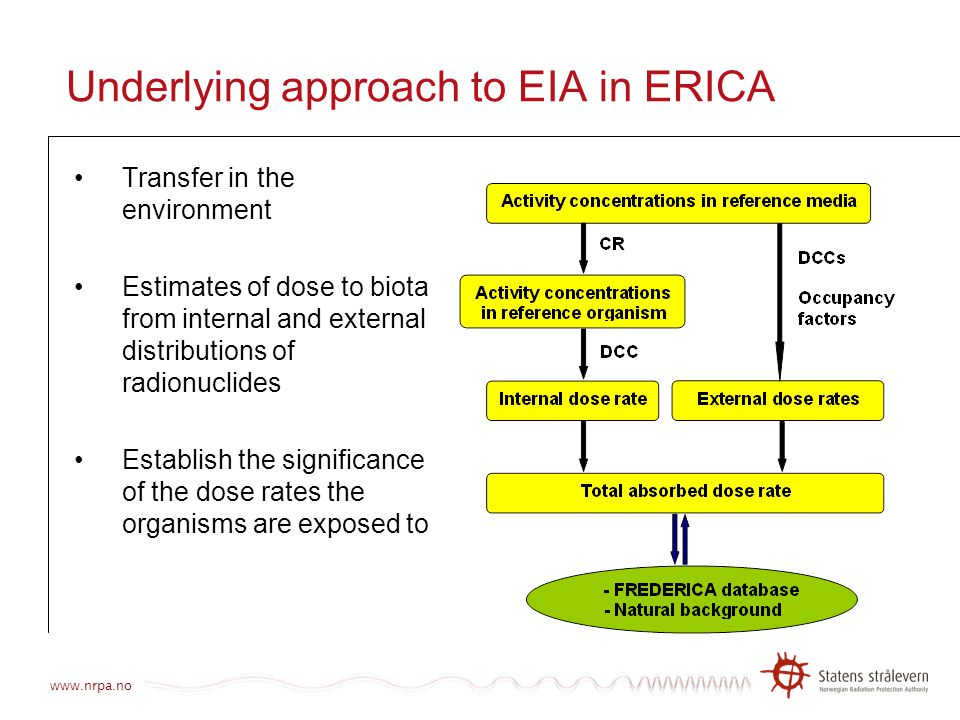 Underlying approach to EIA in ERICA