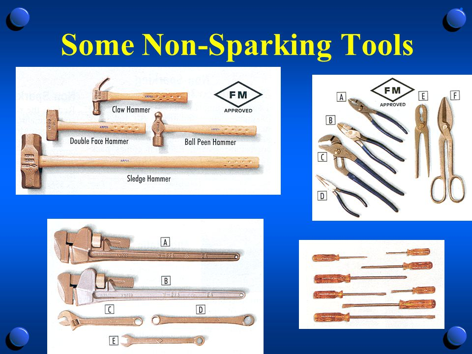 Some Non-Sparking Tools