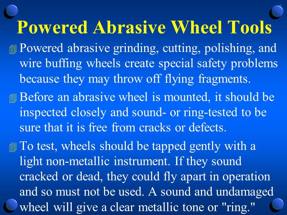 Powered Abrasive Wheel Tools