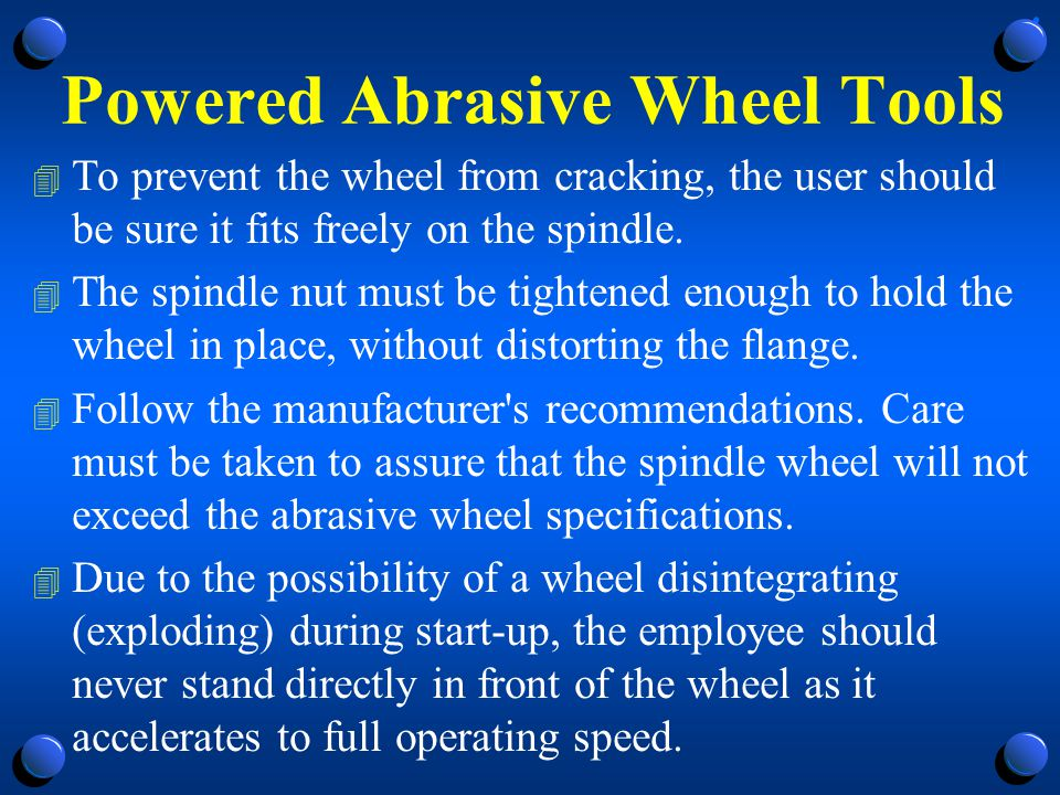 Powered Abrasive Wheel Tools