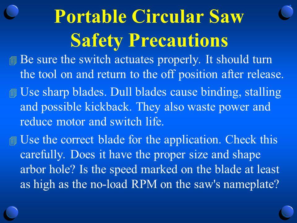 Portable Circular Saw Safety Precautions