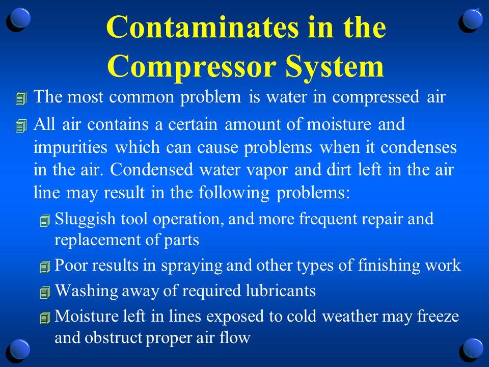 Contaminates in the Compressor System