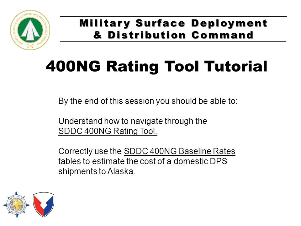 400NG Rating Tool Tutorial