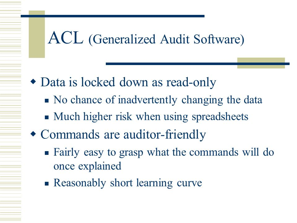ACL (Generalized Audit Software)