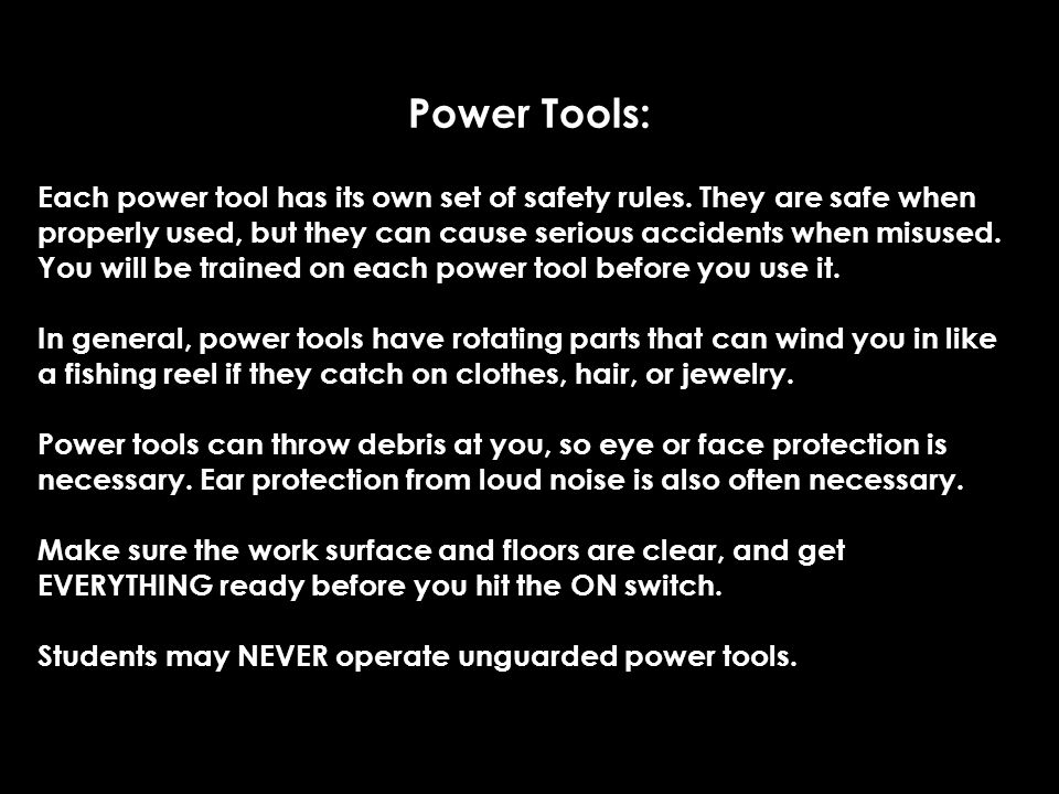 Power Tools: