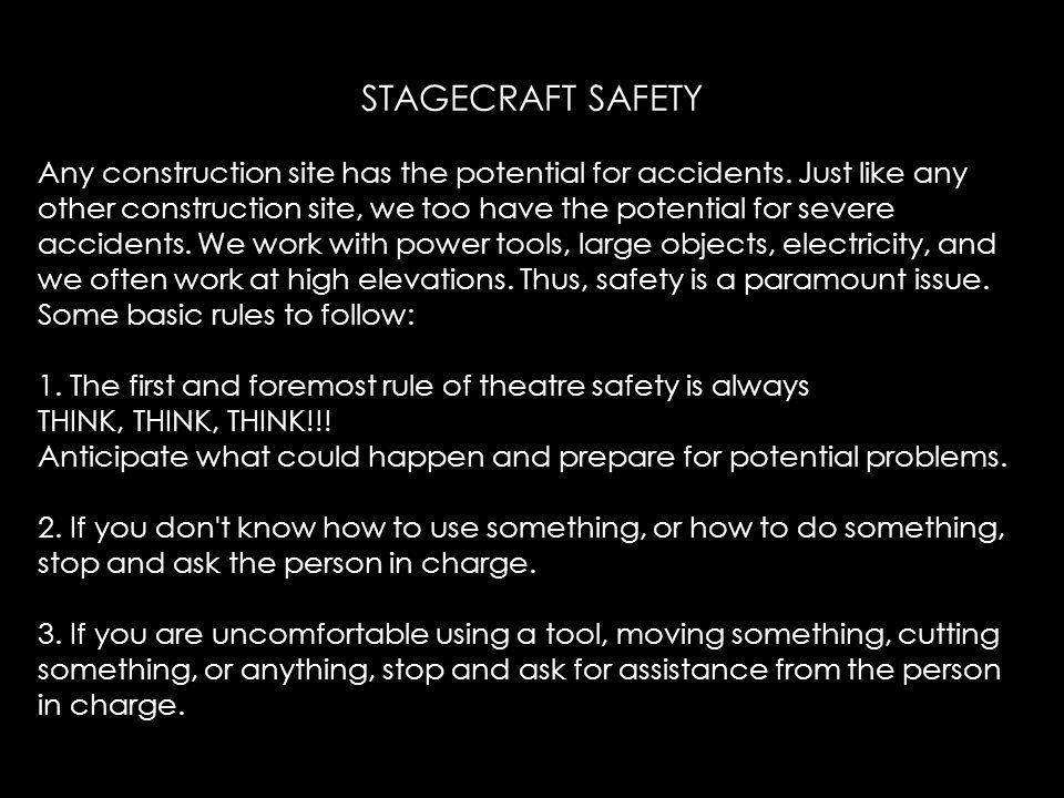 STAGECRAFT SAFETY