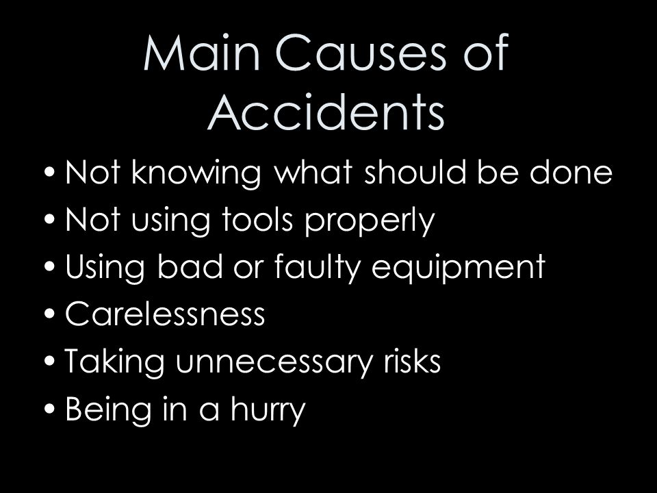 Main Causes of Accidents