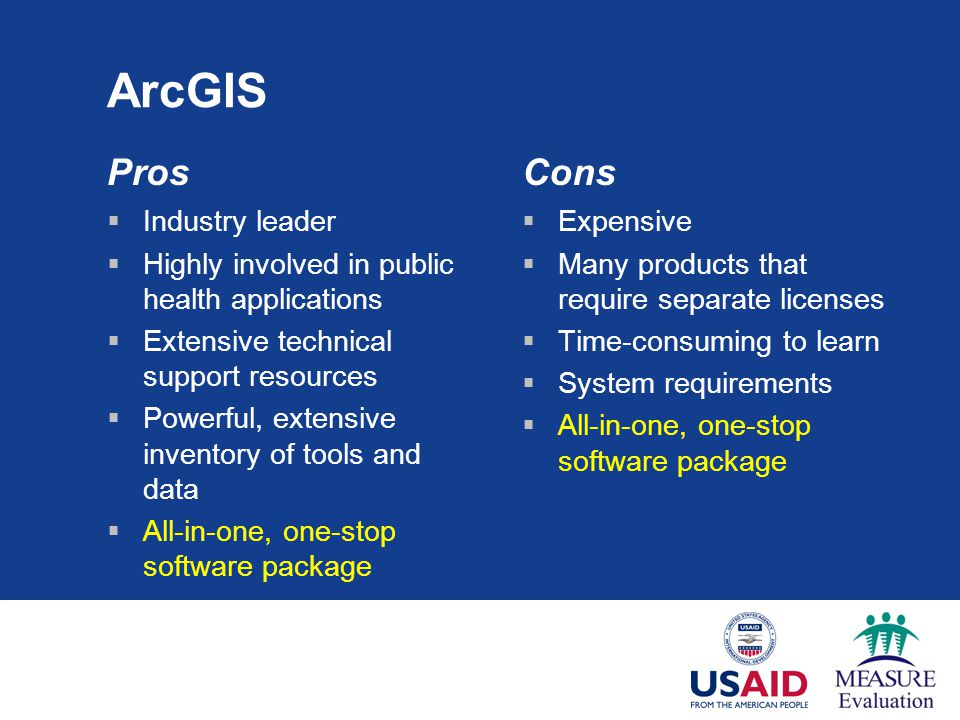 ArcGIS Pros Cons Industry leader
