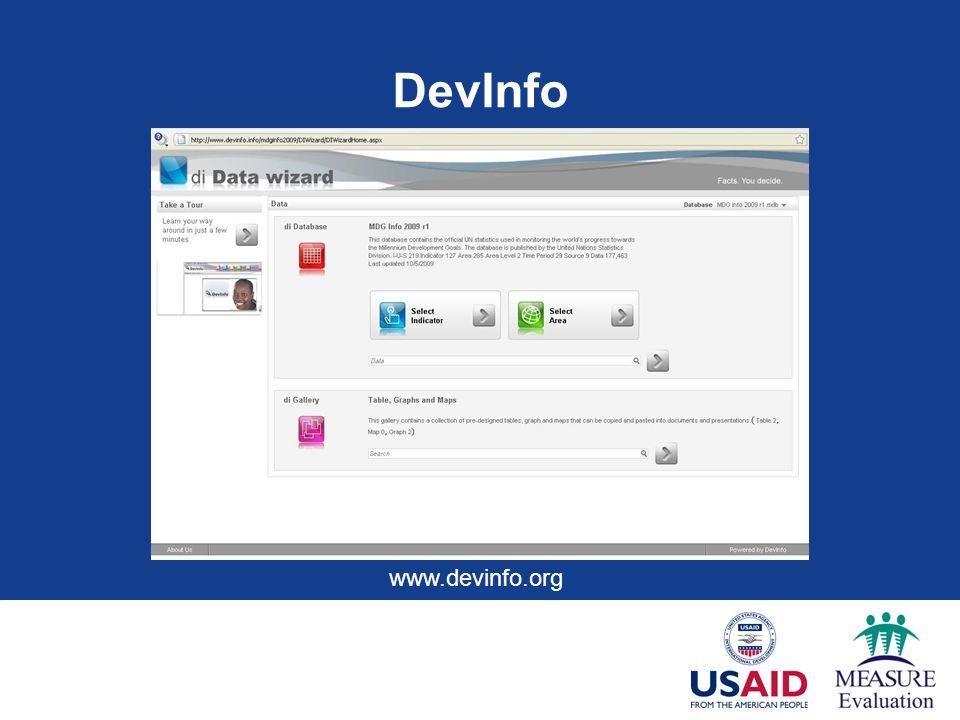 DevInfo www.devinfo.org