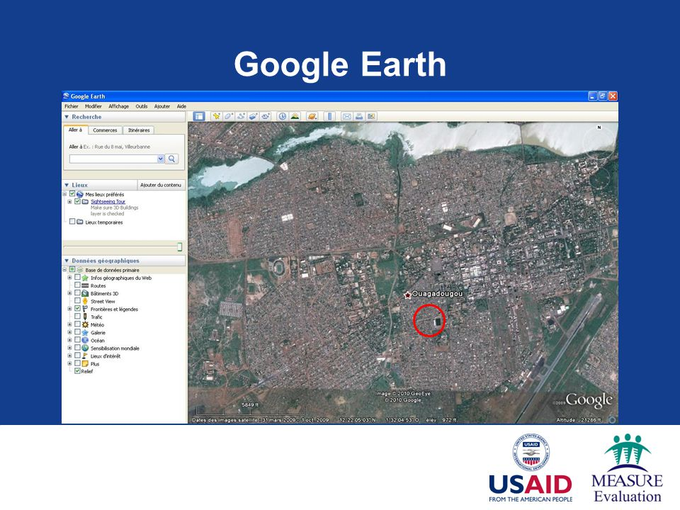 Google Earth the area highlighted here using a red circle, and see… 33