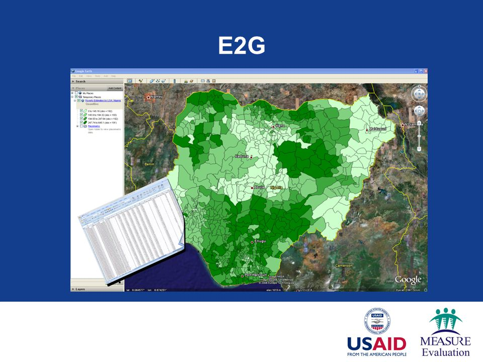 E2G The last tool we'll present is the E2G tool produced by MEASURE Evaluation