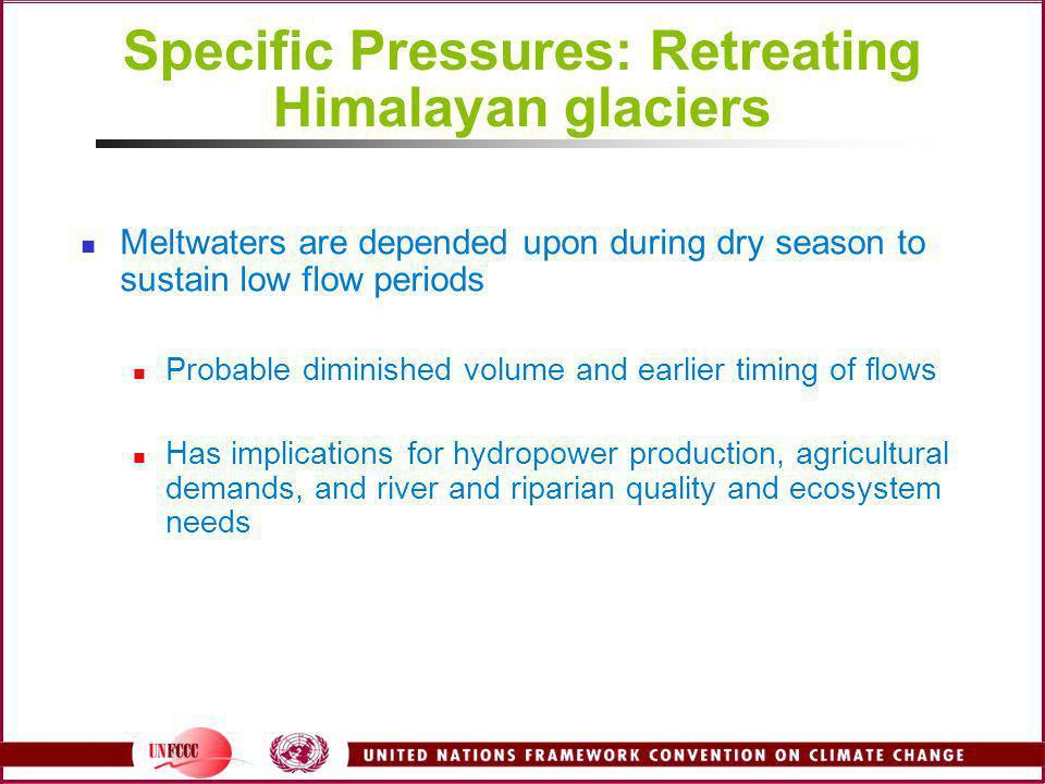 Specific Pressures: Retreating Himalayan glaciers