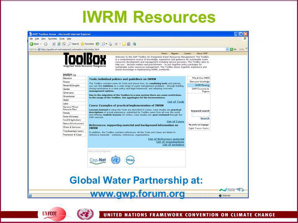 Global Water Partnership at: