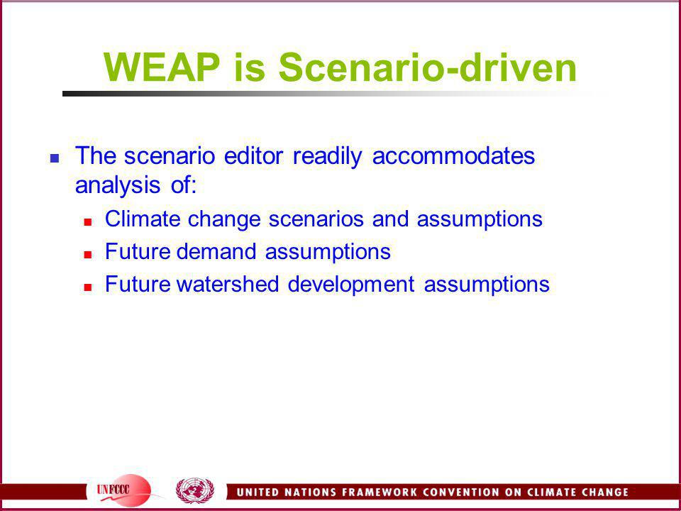 WEAP is Scenario-driven