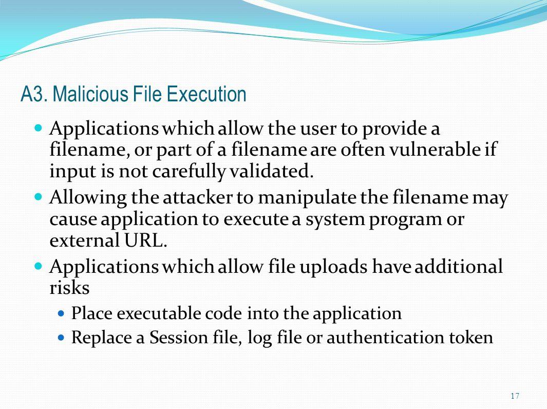A3. Malicious File Execution