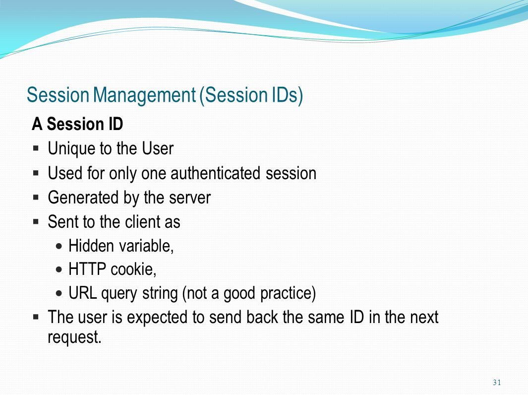 Session Management (Session IDs)