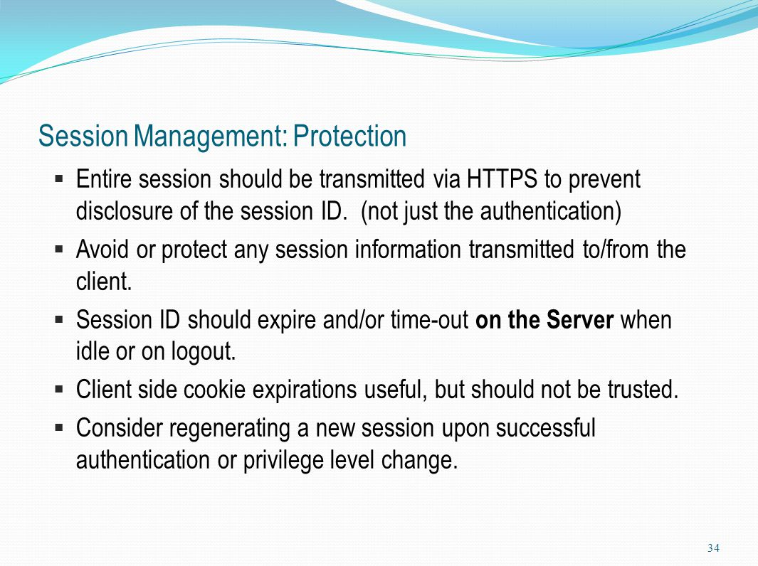 Session Management: Protection