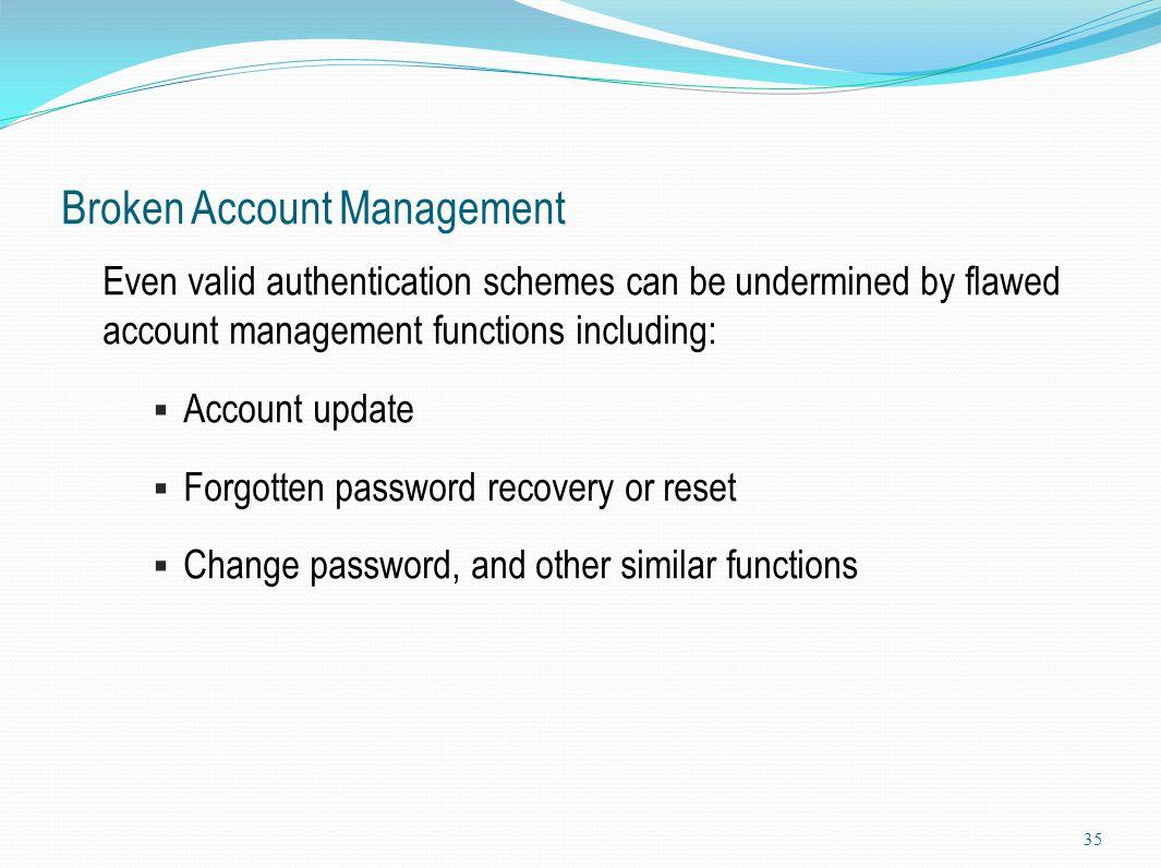 Broken Account Management