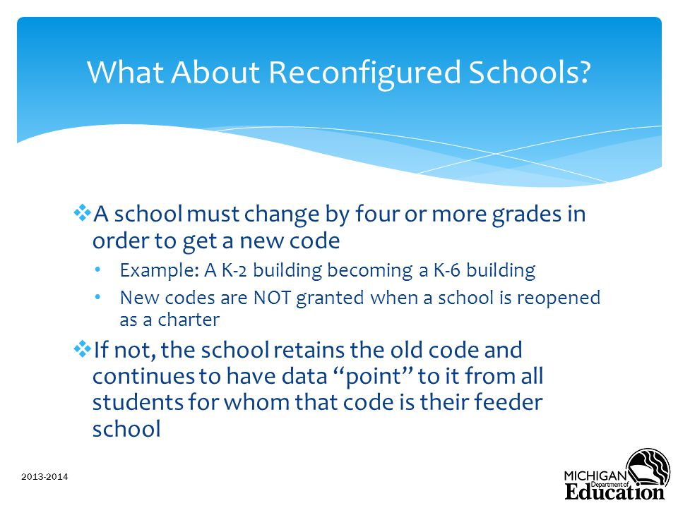 What About Reconfigured Schools
