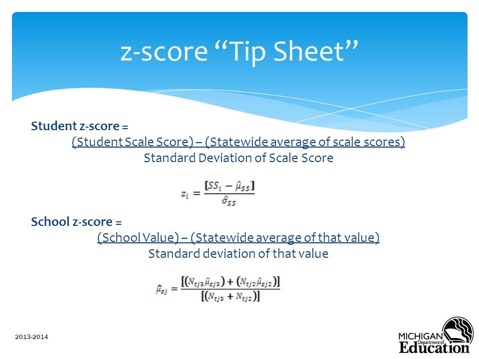 z-score Tip Sheet
