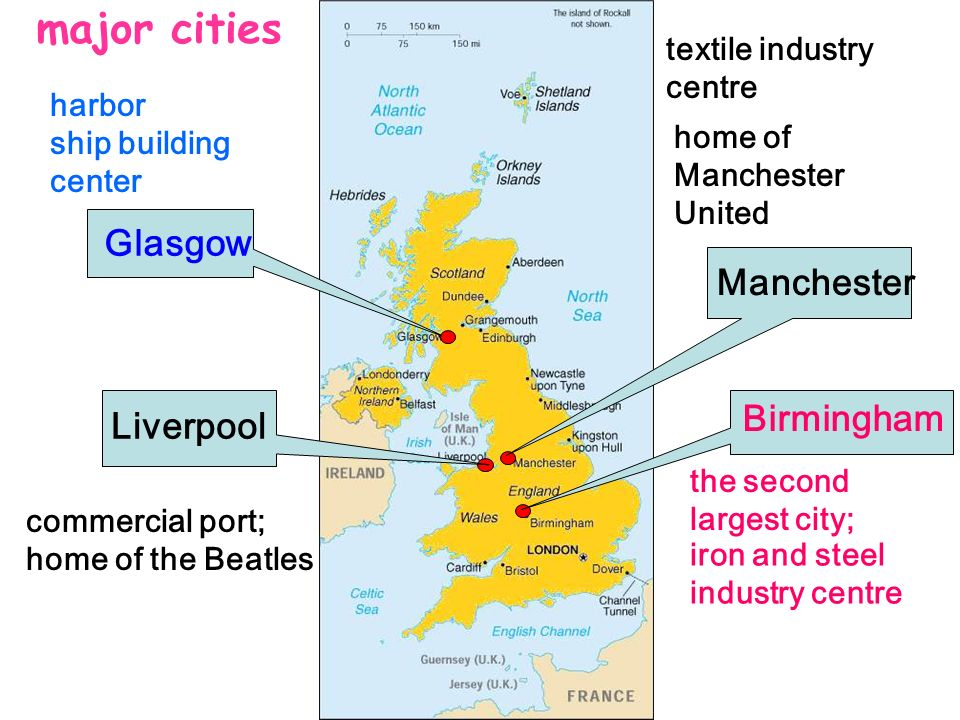 major cities Glasgow Manchester Liverpool textile industry centre