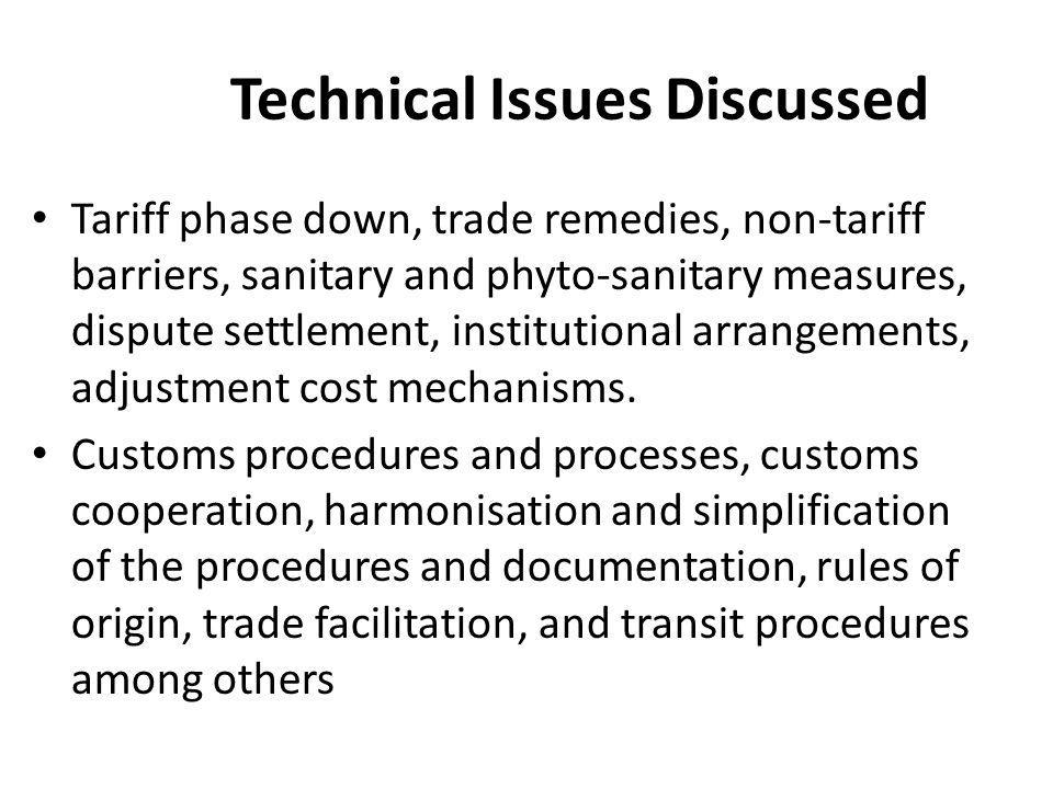 Technical Issues Discussed