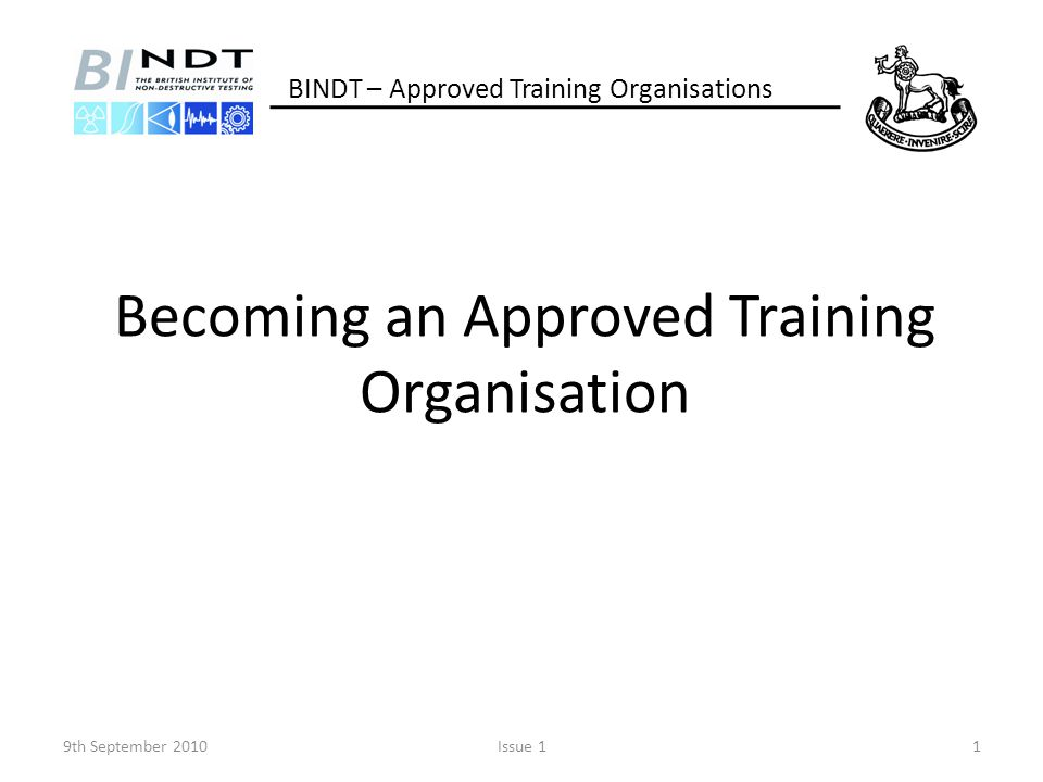 Becoming an Approved Training Organisation