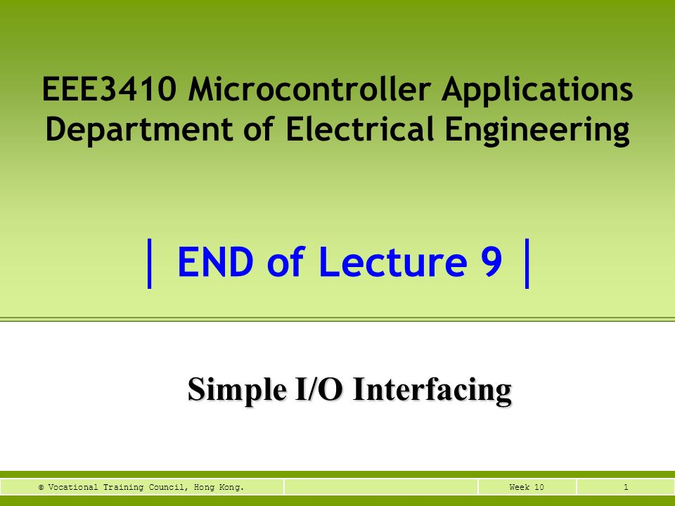 Simple I/O Interfacing