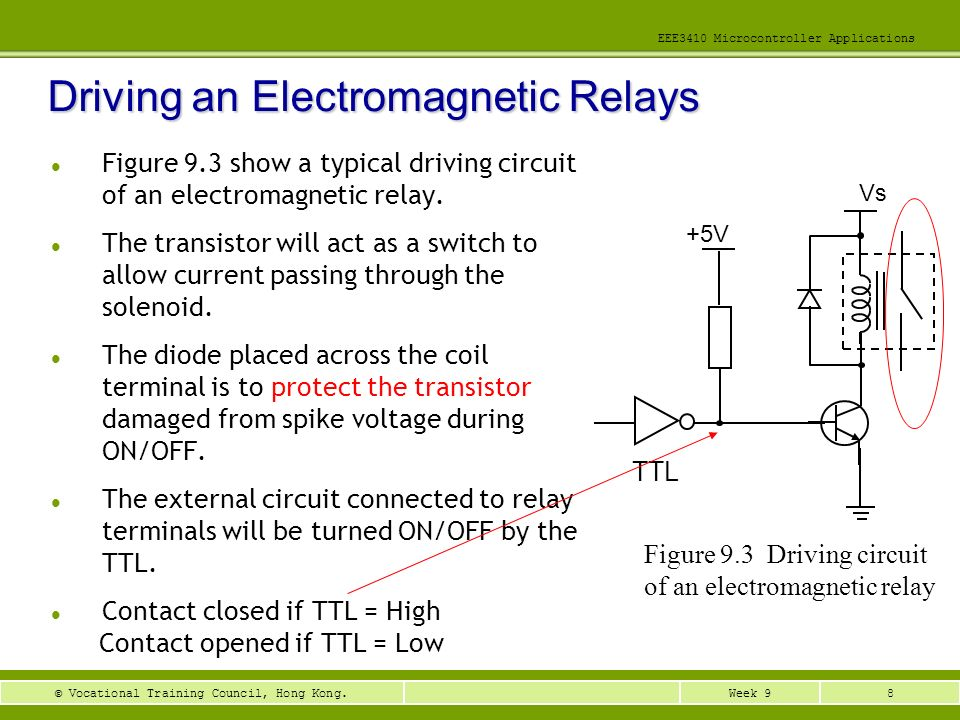 Driving an Electromagnetic Relays