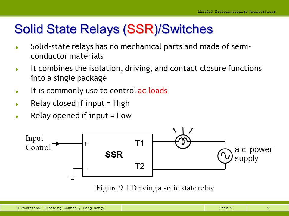 Solid State Relays (SSR)/Switches