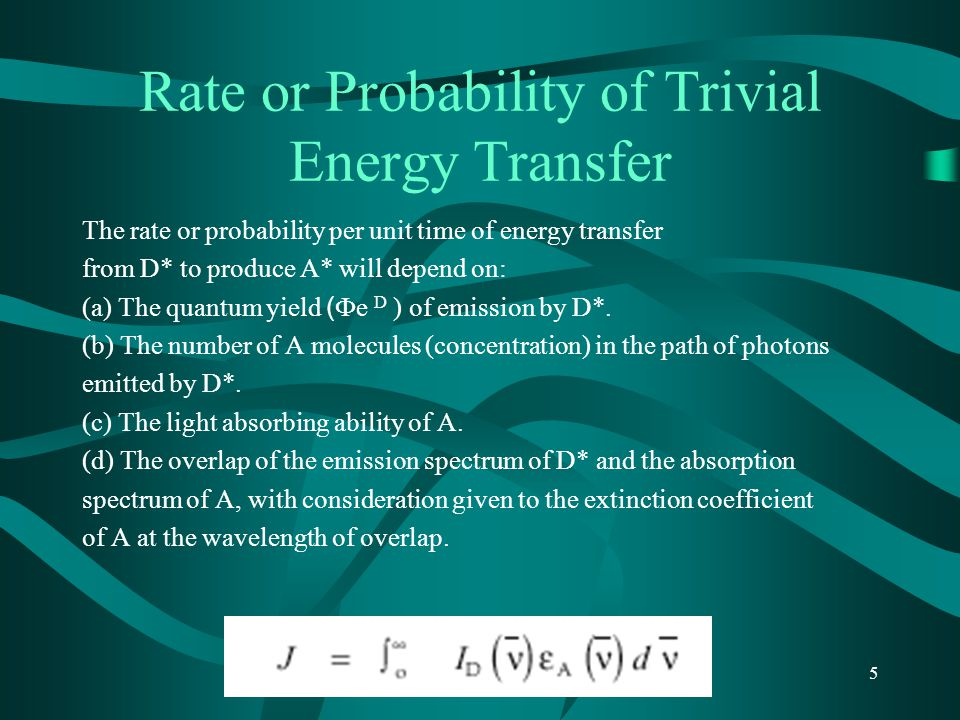 Rate or Probability of Trivial Energy Transfer