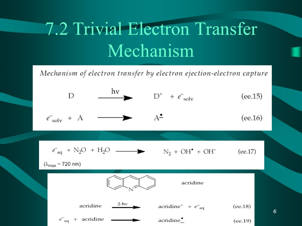 7.2 Trivial Electron Transfer Mechanism