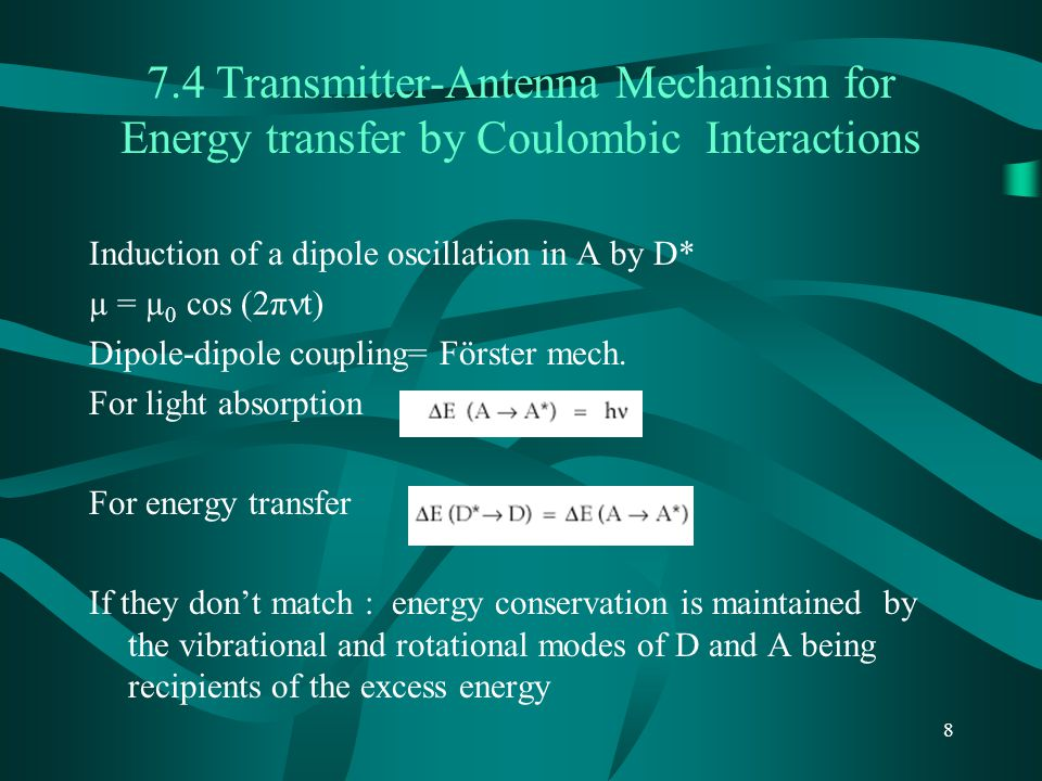 7.4 Transmitter-Antenna Mechanism for Energy transfer by Coulombic Interactions