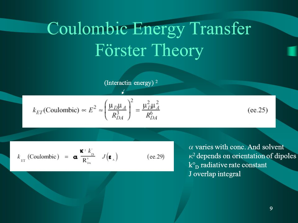 Coulombic Energy Transfer Förster Theory