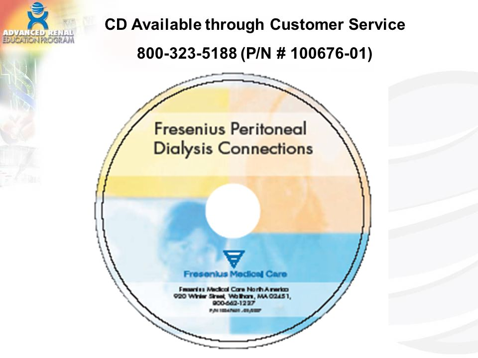 CD Available through Customer Service