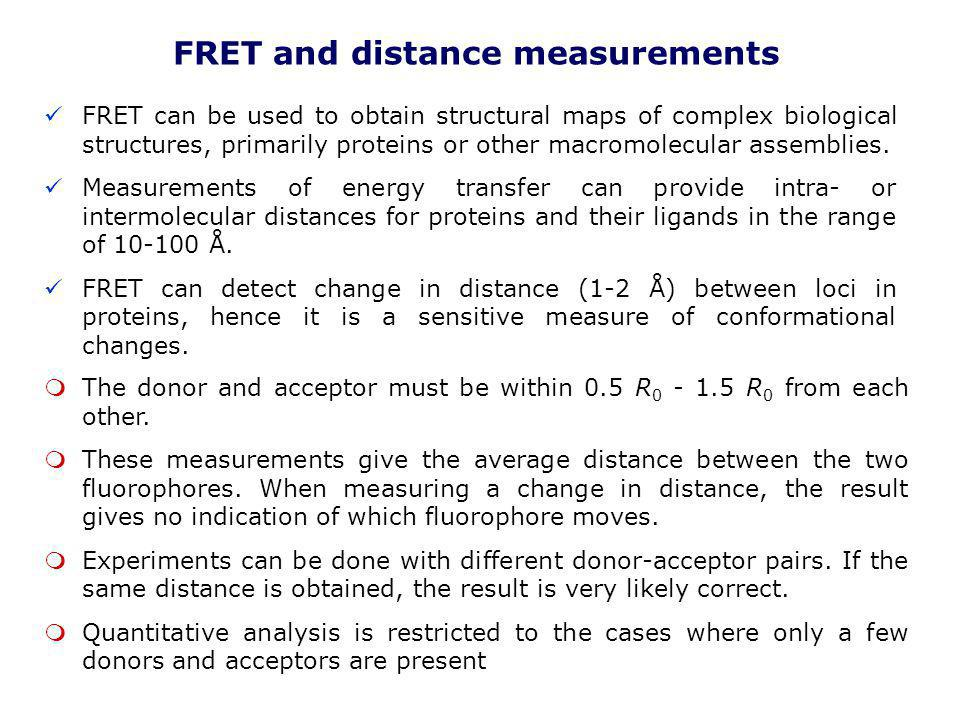 FRET and distance measurements