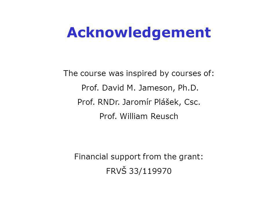 Acknowledgement The course was inspired by courses of: