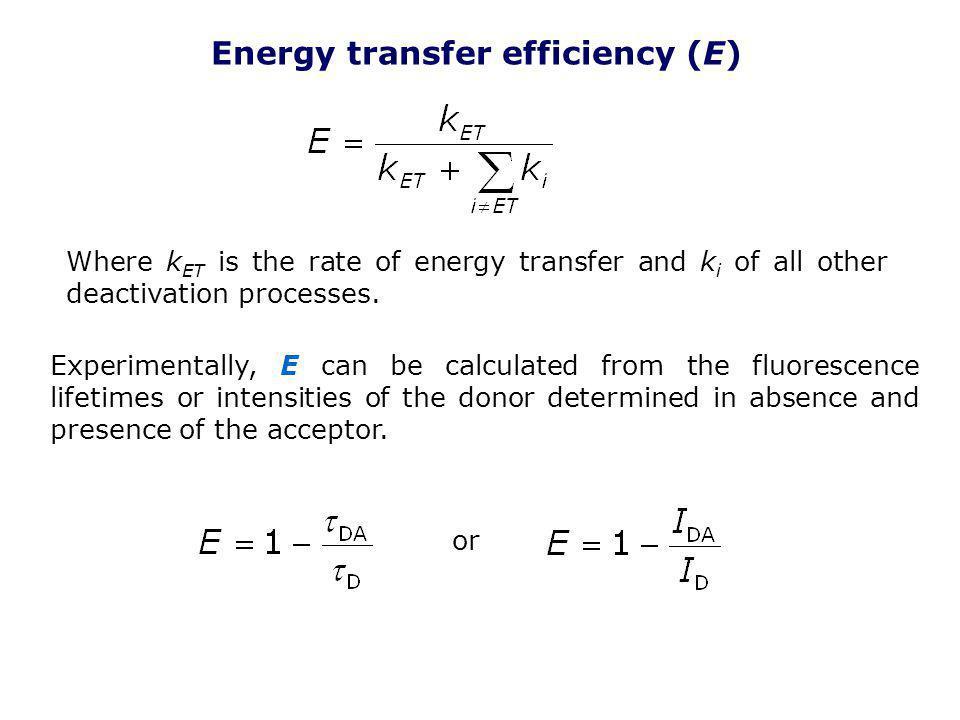 Energy transfer efficiency (E)