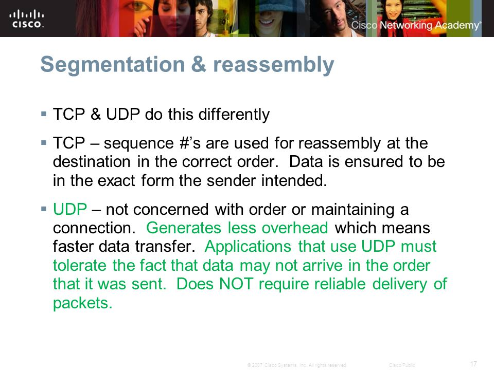 Segmentation & reassembly