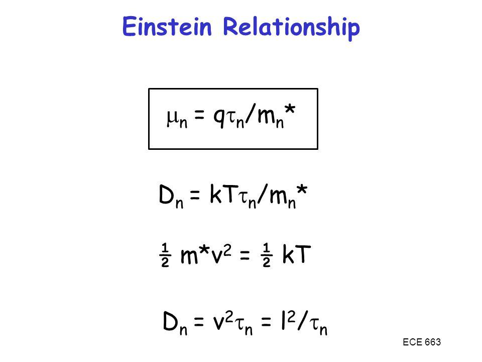 Einstein Relationship