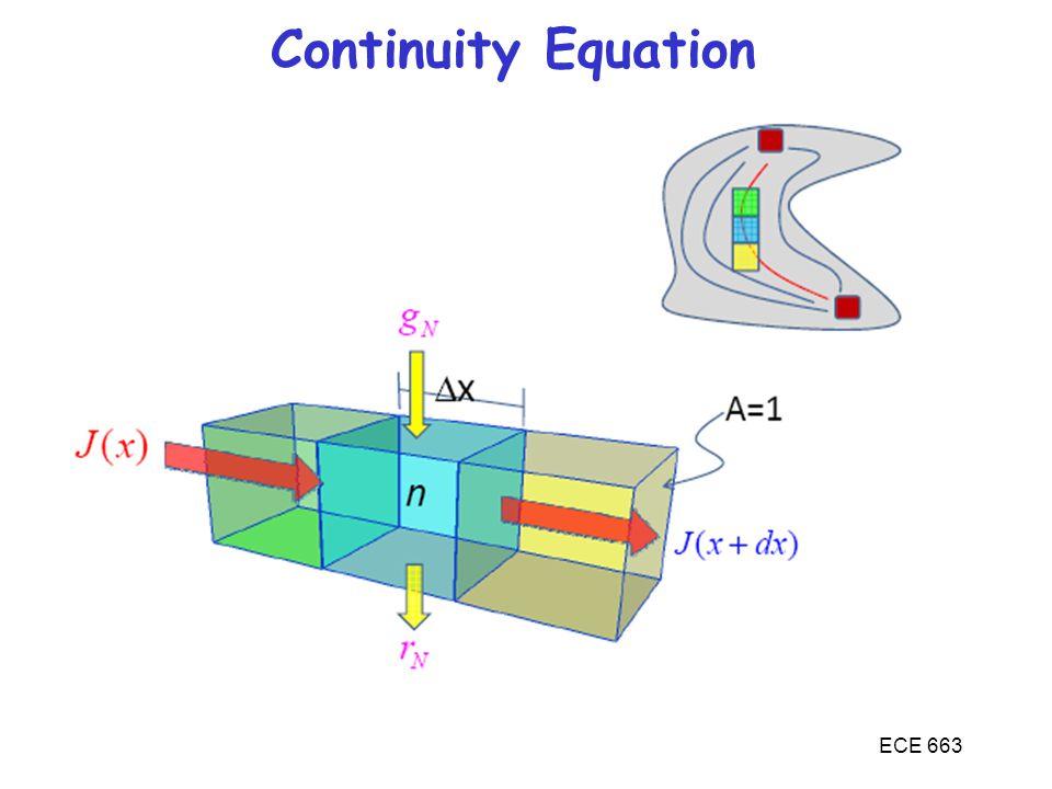 Continuity Equation ECE 663